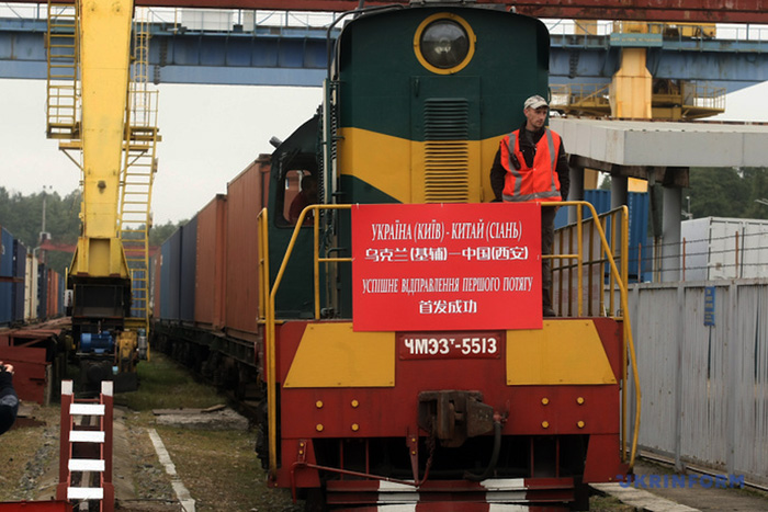 Укрзализныця отправила первый экспортный товар железной дорогой в КНР